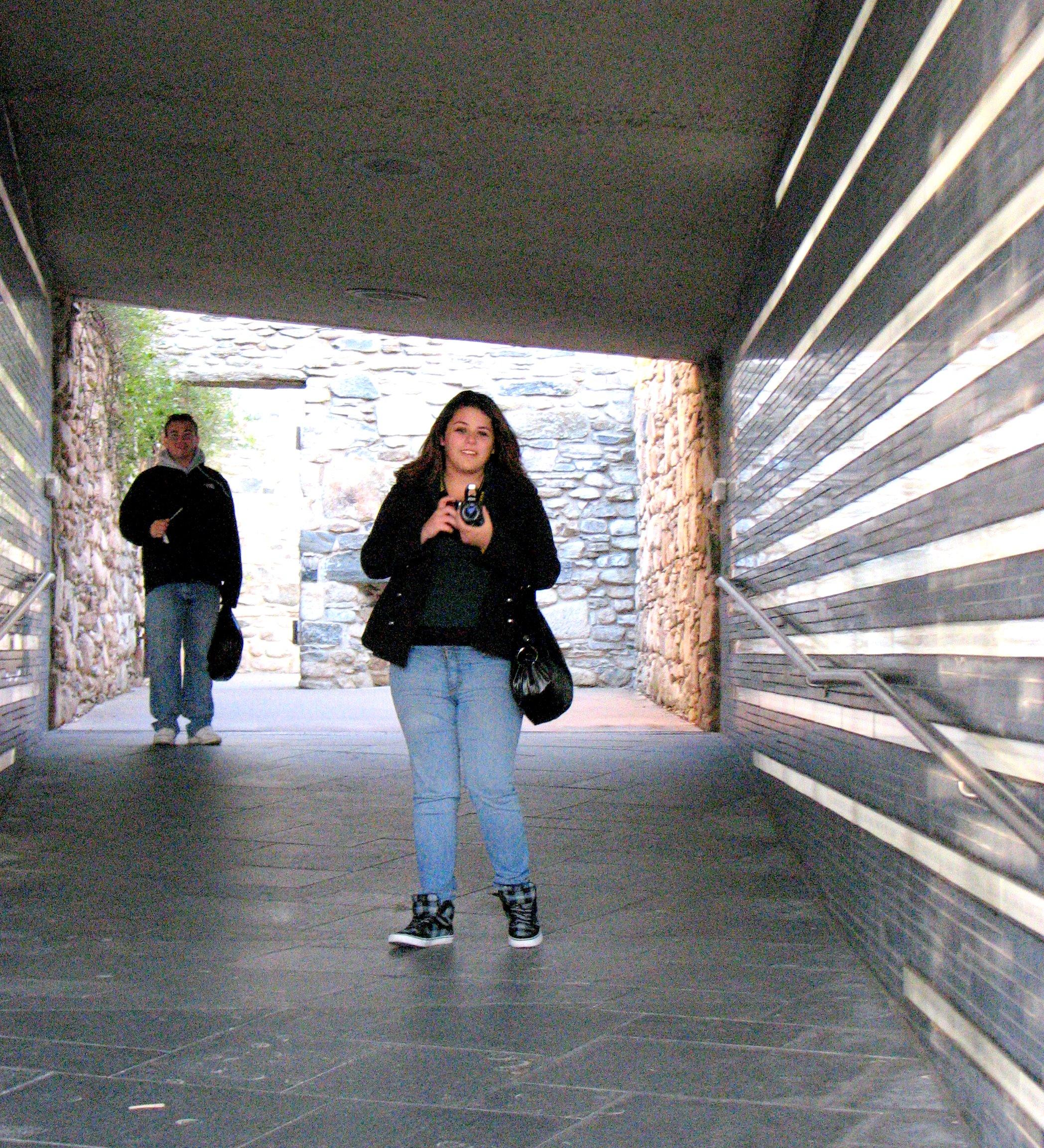 Amanda at the Irish Famine Memorial