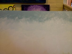 Starting off with blending blue...