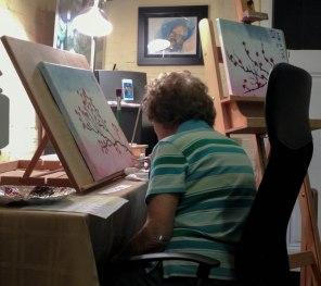 Badass Sassa's Badass Grandma! She created an amazing painting.
