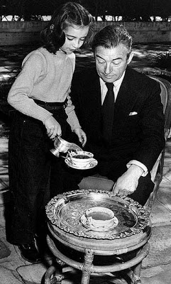 Claude Rains and daughter Jessica
