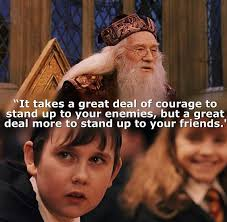 Image result for neville longbottom standing up to his friends