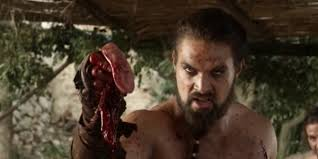 Image result for drogo and rakharo ripped throat out