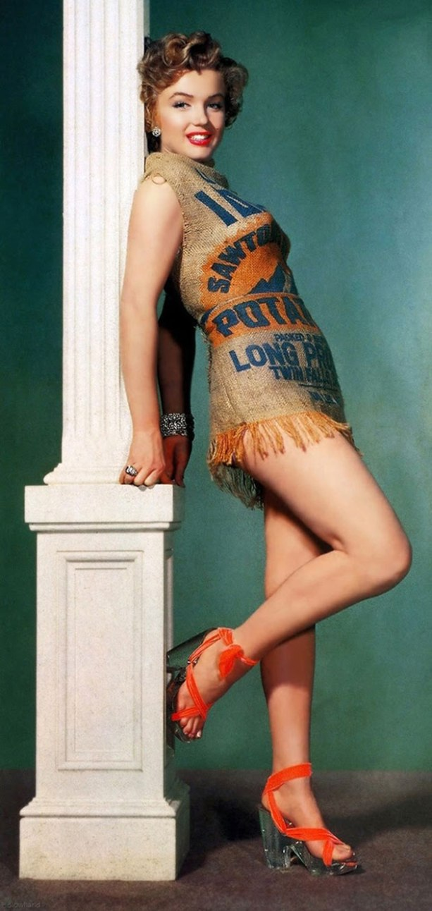Womens History Month: Marilyn Monroe and her Potato Sack Dress – Thoughts  and Ponderances
